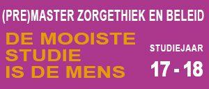 (pre)Master Zorgethiek & Beleid, studiejaar 17-18